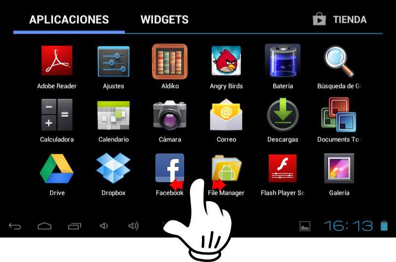 contacto con un tablet android cursos senior de